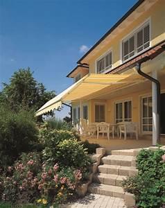markisen jalousien raumausstatter polsterei etzbach With markise balkon mit tapeten in brauntönen