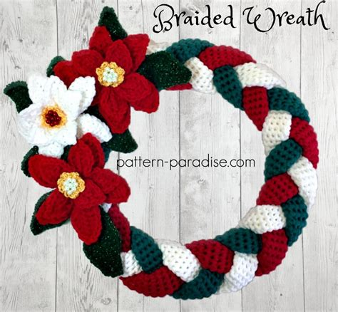 braided christmas wreath weekschristmascal week