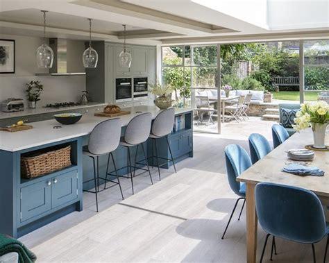 cuisine gris bleu 1001 idées pour aménager une cuisine ouverte dans l 39 air