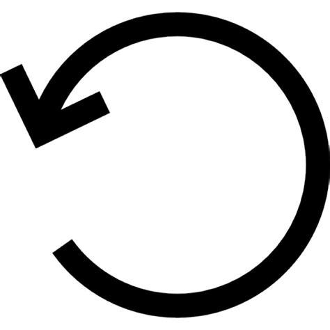 siege auto qui se tourne tourner à gauche circulaire symbole d 39 interface flèche