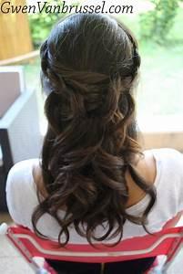 Chignon Demoiselle D Honneur Mariage : coiffure demoiselle d 39 honneur demi attache boucles tresses r alis e par gwen vanbrussel ~ Melissatoandfro.com Idées de Décoration