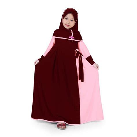 jual bajuyuli baju muslim anak perempuan gamis jersey marun peach mjrn  lapak bajuyuli