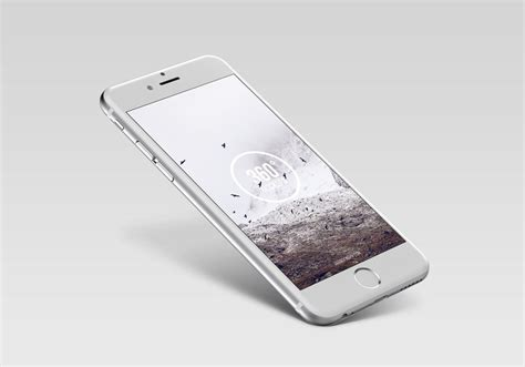 Free Iphone Mockup Floating Silver Iphone Mockup Mockupworld