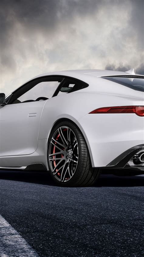 wallpaper jaguar  type coupe white startech cars