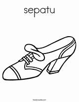 Coloring Shoe Shoes Pages Heel Jordan Sepatu Tennis Printable Heels Colouring Clipart Twistynoodle Boots Buckle Drawing Decorations Nike Outline Vector sketch template