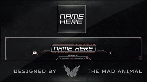 youtube banner avatar revamprebrand template