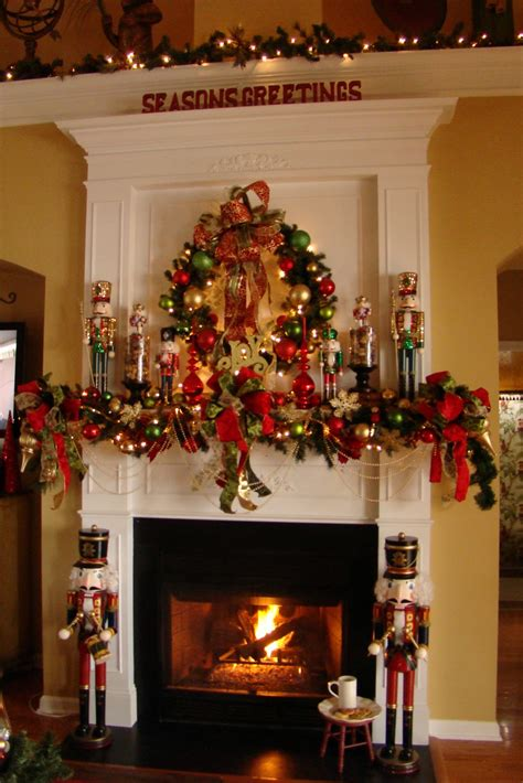 adventures  decorating nutcracker mantel