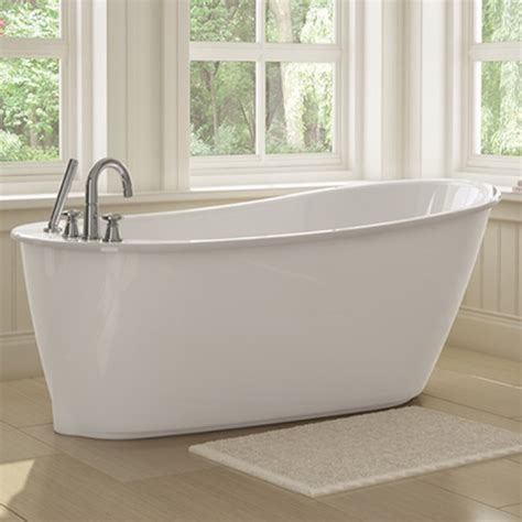 Maax Freestanding Tub sax freestanding soaker tub w white apron by maax