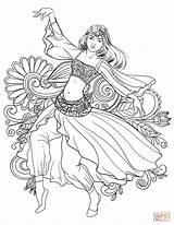 Coloring Dance Dancing Belly Gypsy Arabic Drawing Printable Mandalas Para Adult Supercoloring Colorear Dibujos Colouring Dibujar Mujeres Elegant Adultos Islamic sketch template