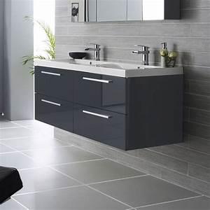 meuble double vasque prix bas meuble lavabo salle de bain With double vasque salle de bain brico depot