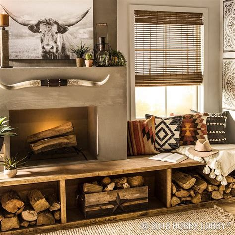 blend trendy textiles  western wall decor   wonderfully eclectic space country house