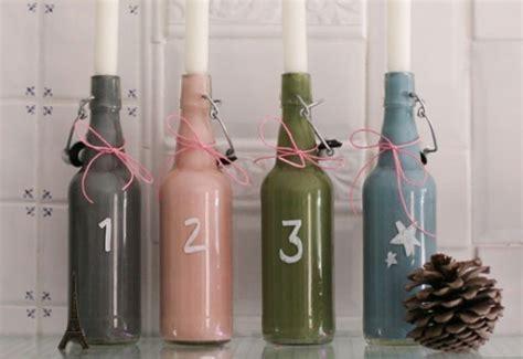 einen coolen adventskranz aus flaschen selber basteln