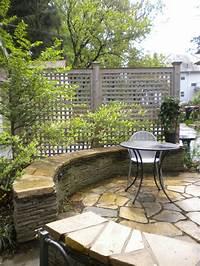 interesting patio gardens design ideas Exterior: Interesting Exterior Furniture For Garden Decoration With Solid Wood Lattice Screen ...