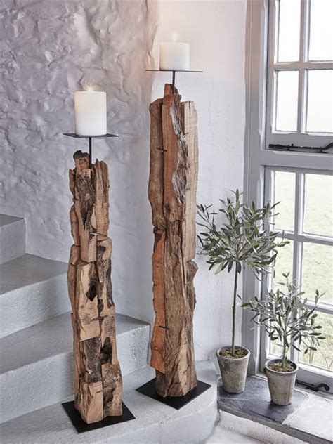 Tall Floor Standing Candle Holders by Floor Candle Holders Driftwood