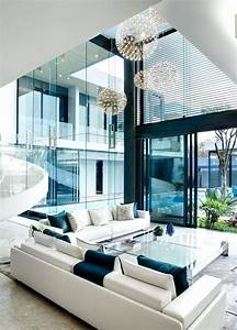 Decoration Modern Mansion With Perfect Interiors By
