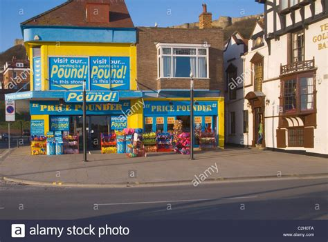 pound shop in scarborough yorkshire stock photo royalty