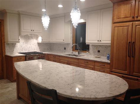 My Kitchen Re Do! Quartz Backsplash   nina in the kitchen