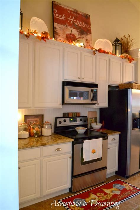 Decorating Ideas For Kitchen by Adventures In Decorating Our Fall Kitchen
