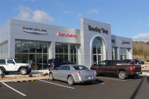 rocky top chrysler jeep dodge dealership sevierville