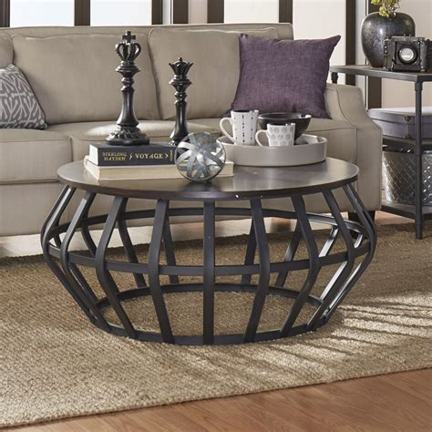 weston home  cage shape wood  metal accent