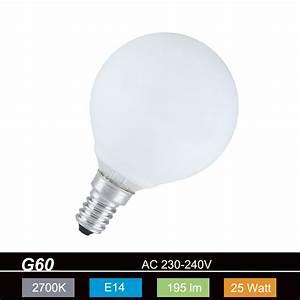 E14 25 Watt : gl hlampe leuchtmittel g60 globe 60mm e14 opal wei 25 watt wohnlicht ~ Orissabook.com Haus und Dekorationen