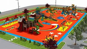 A 3D concept design of 9500m2 playground | Park Kent ...
