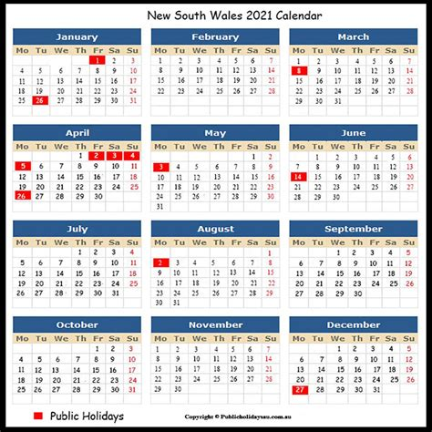 These dates may be modified as official changes are announced, so please check back regularly for updates. 2021 Public Holidays Nsw
