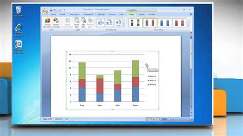 how to make a column vertical bar graph in microsoft