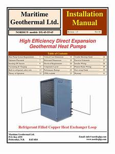 Geothermal Heat Pump Installation Instructions