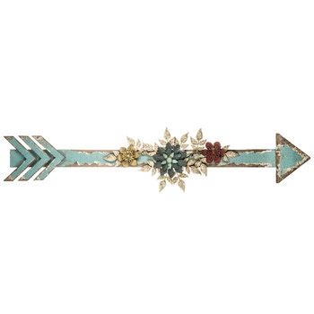 flower embellished arrow wall decor hobby lobby