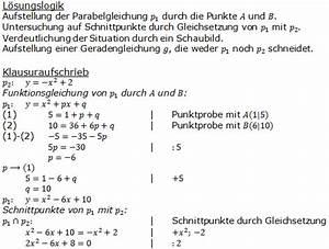 Parabel Rechnung : wahlteil 2011 realschulabschluss fit in mathe ~ Themetempest.com Abrechnung