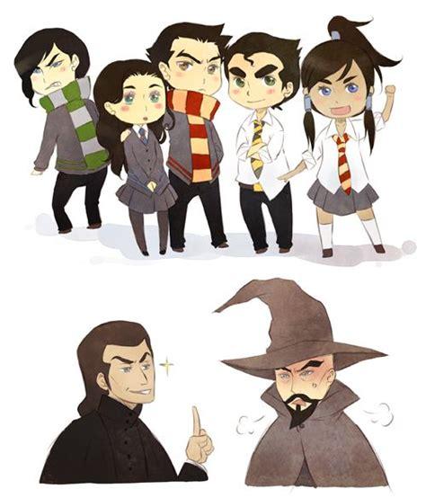 avatar korra potter harry hogwarts legend crossover zuko aang kuvira airbender last asami toph deviantart mako iroh bolin katara teenage