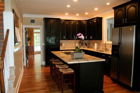 black kitchen cabinets  popular midcityeast