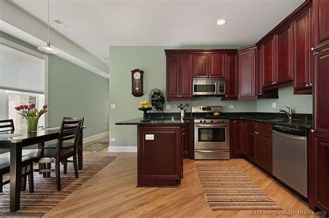 kitchen paint colors for kitchens with dark oak cabinets
