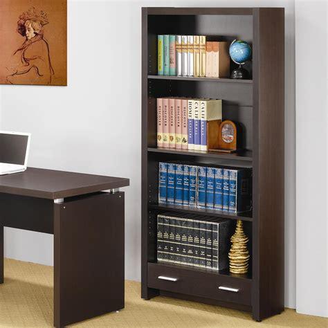 Coaster Bookcase by Coaster Skylar 4 Shelf Bookcase With Storage Drawer
