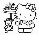 Tea Party Coloring Pages sketch template