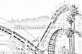 Coloring Boardwalk Roller Coaster Santa Dipper Cruz sketch template
