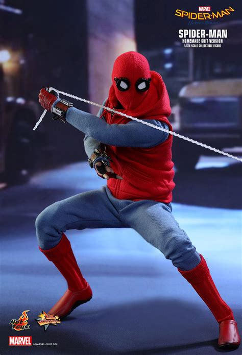 hot toys spider man homecoming homemade suit action