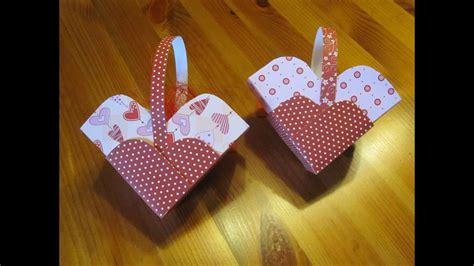 basteln mit papier herz schachtel basteln bastelideen muttertag valentinstag