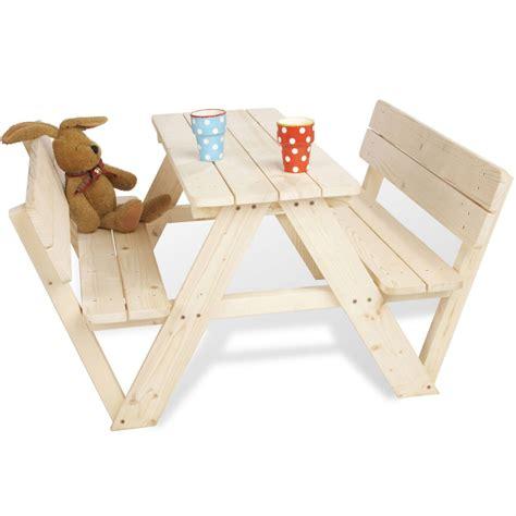 table pour enfant table pique nique 4 places avec dossiers pour enfants module de jeux pour enfant dans le
