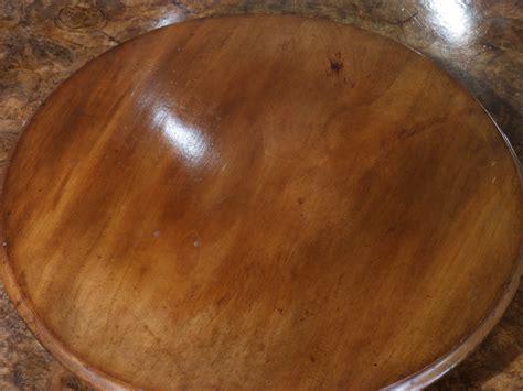 antique lazy susan dumb waiter revolving tray wooden