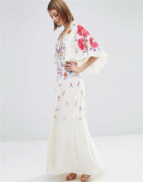 asos maxi kimono haftowane kwiaty folk orient w suknie i sukienki szafa pl