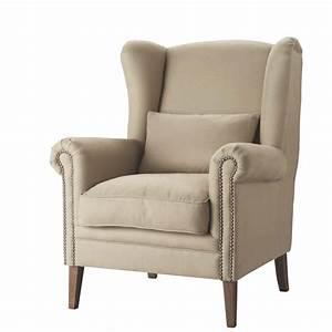 Fauteuil Suspendu Maison Du Monde : fauteuil en lin octave maisons du monde ~ Premium-room.com Idées de Décoration