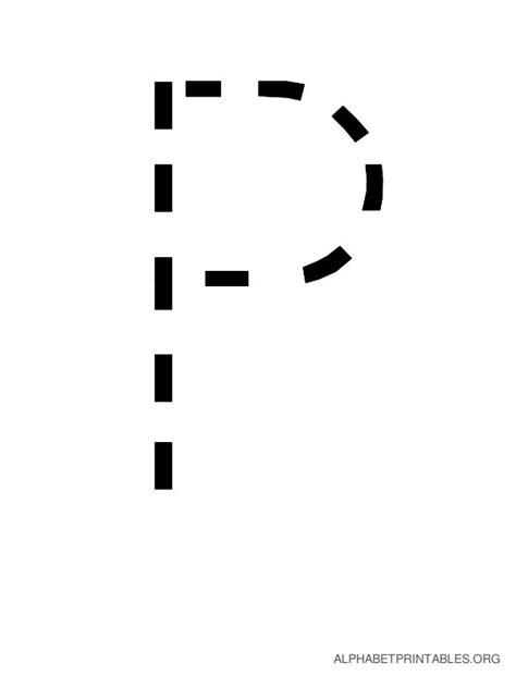 pprintable traceable alphabet letters template printable
