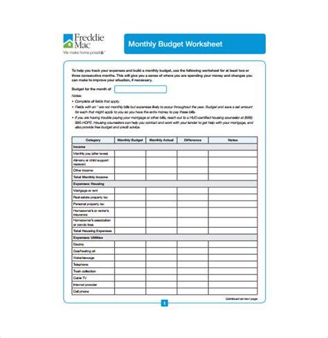 budget worksheet business proposal