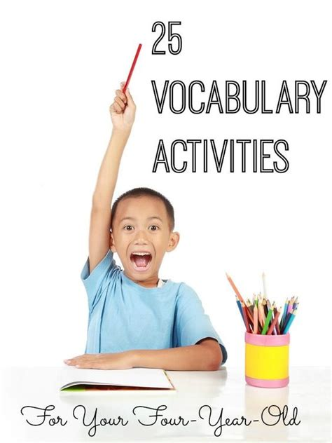 25 vocabulary enrichment activities for your child