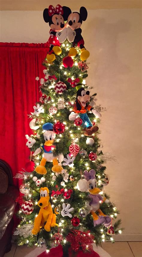 mickey mouse christmas tree ideas  pinterest
