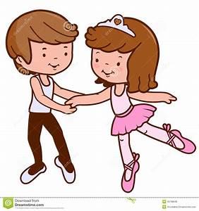 Boy And Girl Ballet Dancers Stock Vector - Image: 45798646