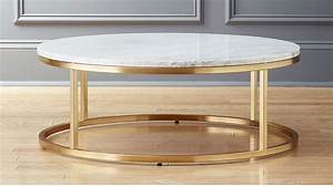 smart round marble brass coffee table cb2 With white and brass coffee table