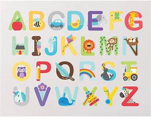 alphabet wall stickers buy abc wall stickers With letter wall stickers